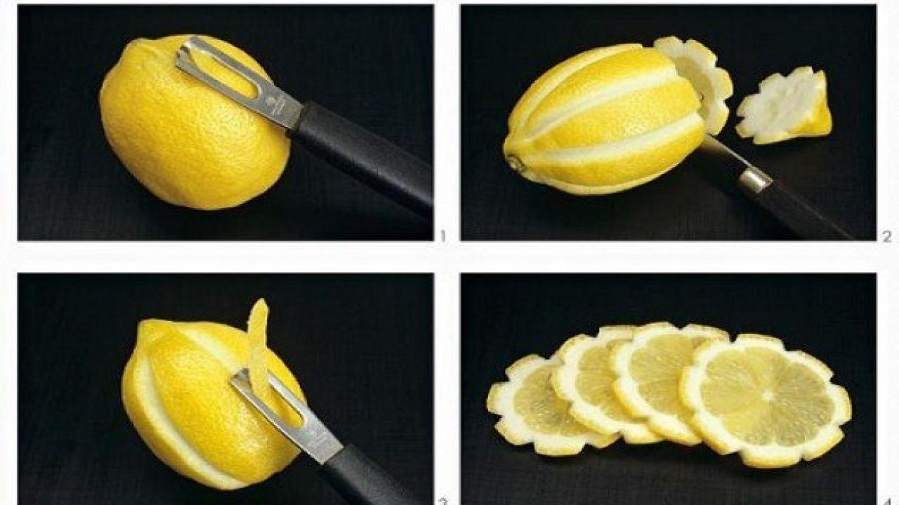 طريقة تقطيع الليمون