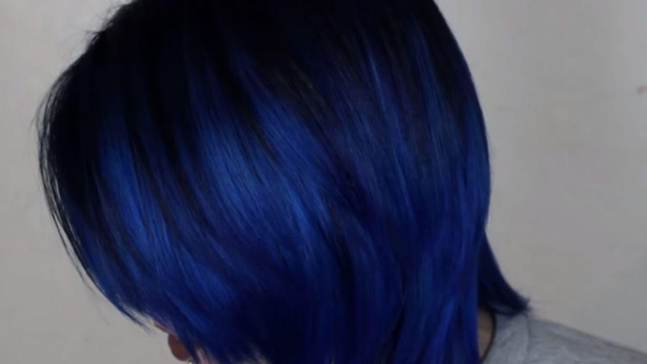 طريقة عمل صبغة شعر لون أزرق صبغة الشعر طب 21