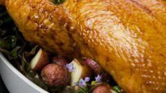 دجاج و خضار بالكيس الحراري بالفرن