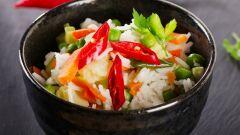 طريقة تحضير أرز أبيض بالخضار