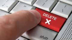 كيف أحذف بريدي الإلكتروني