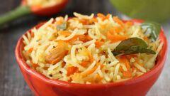 الأرز بالجزر