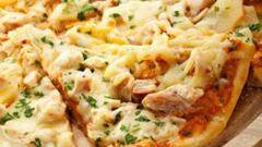طريقة البيتزا بالدجاج