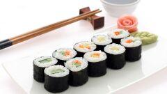 طريقة أكل السوشي